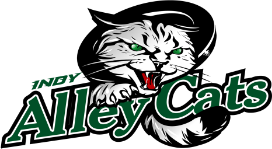 The logo of the Indianapolis Alleycats.