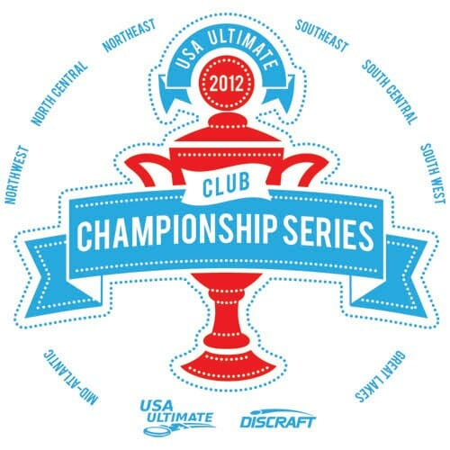The logo for the USA Ultimate 2012 Club Championship Series.