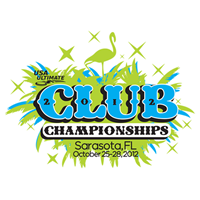 The logo for the USA Ultimate 2012 Club Championships in Sarasota, Florida.