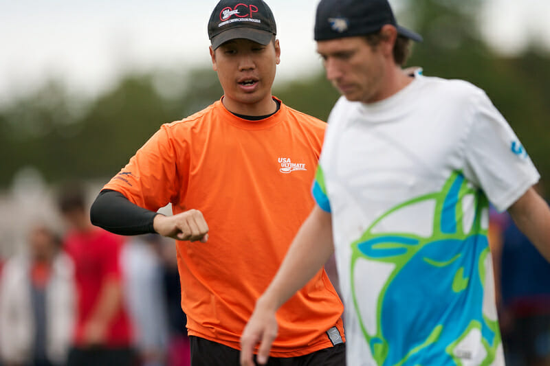 USA Ultimate Observer Wally Kwong and GOAT's Jeff Lindquist.
