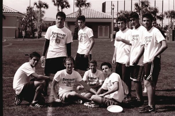A group of players from the Suncoast Ultimate team.