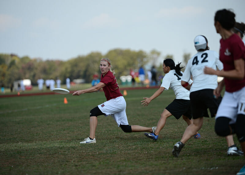 Scandal taking on Hot Metal in the Mid-Atlantic Regional Women's Finals.