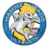 The logo of the AUDL's New Jersey Hammerheads.