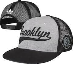 Brooklyn Nets Mesh Snapback hat.