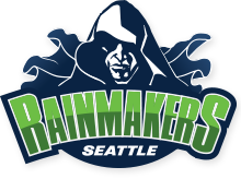 Seattle Rainmakers logo.