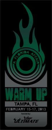 The logo for Warm Up: A Florida Affair 2013.