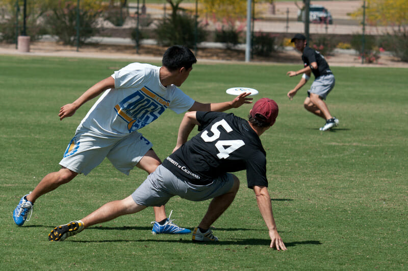 UC Davis takes on Cal at the 2012 Southwest Regionals.