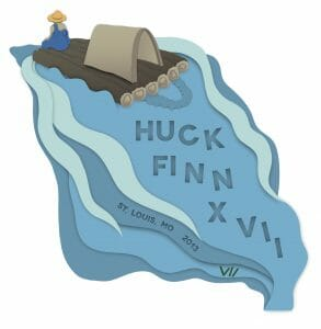 The logo of Huck Finn 2013.