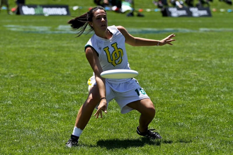 Oregon's Sophie Darch at the 2012 College Championships.
