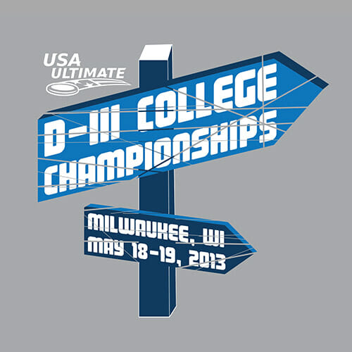 USA Ultimate's DIII College Championships logo.