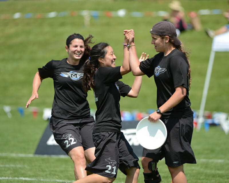 Michigan Flywheel at the 2012 College Championships.