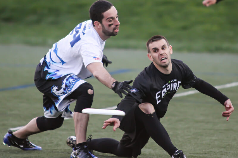 The New York Empire took on the Rochester Dragons in Manhattan.