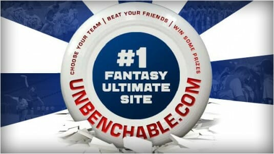 The AUDL's Fantasy portal, Unbenchable.