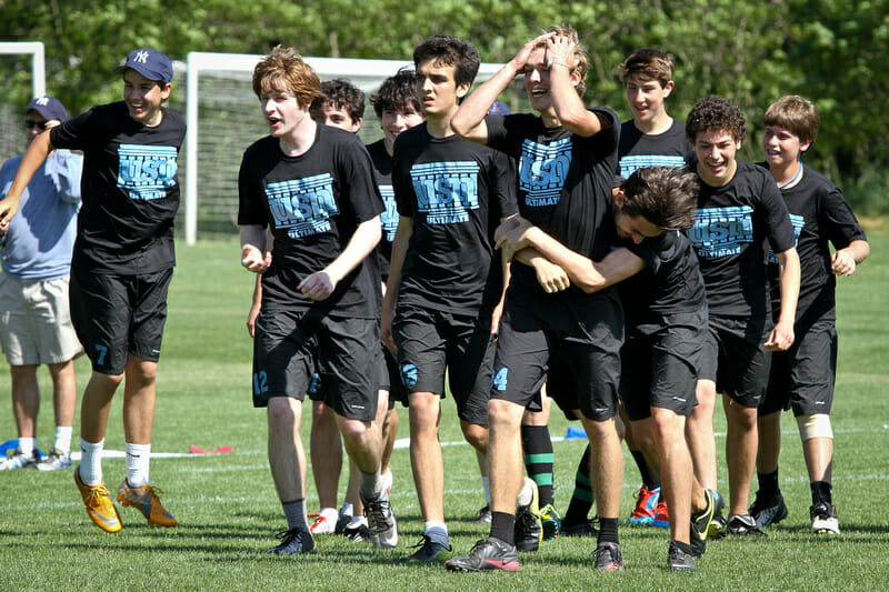 University School of Nashville celebrating after their Southerns victory over Paideia.