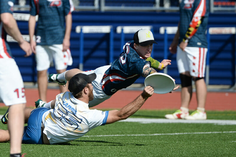 The New Jersey Hammerheads v. The DC Breeze in the American Ultimate Disc League.