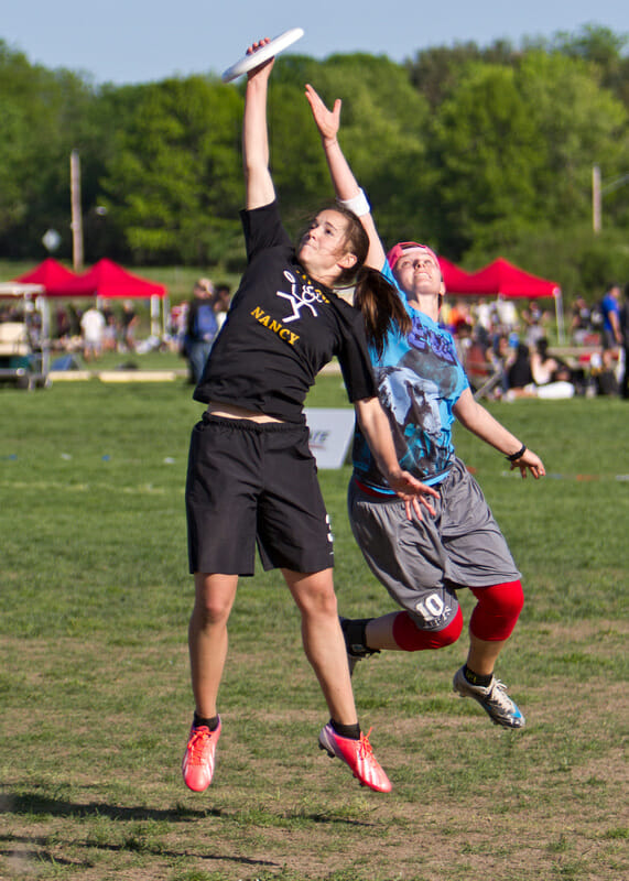 Iowa v. Tufts at the 2013 USA Ultimate D-I College Championships.