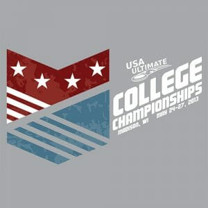 The USA Ultimate D-I College Championships logo.