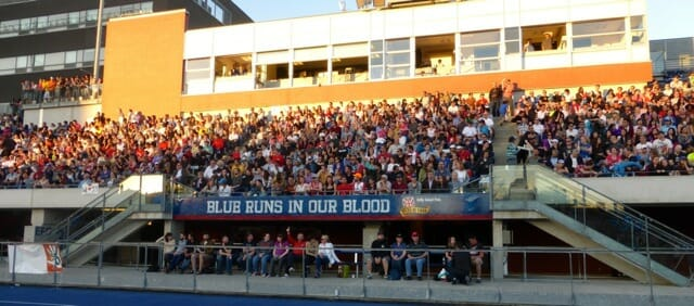 The 2300-person Toronto Rush crowd at their home opener.