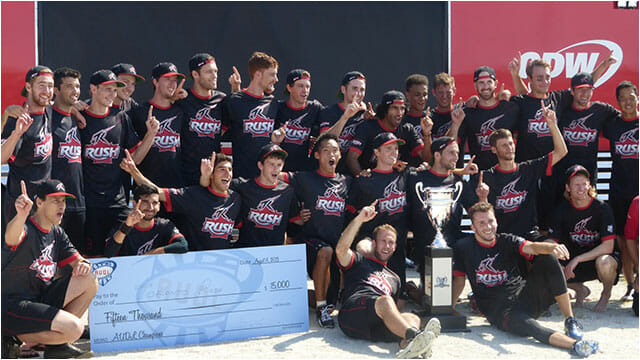 The 2013 AUDL Champions Toronto Rush.