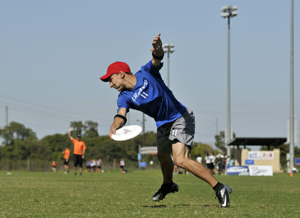 Johnny Bravo's Nick Lance pulls at the Club Championships.