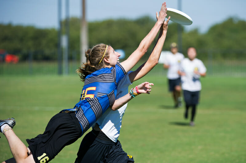 Sarah Levinn of Showdown goes all out to make a play on Thursday