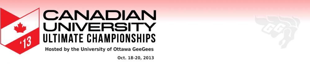 2013 Canadian University Ultimate Championships.