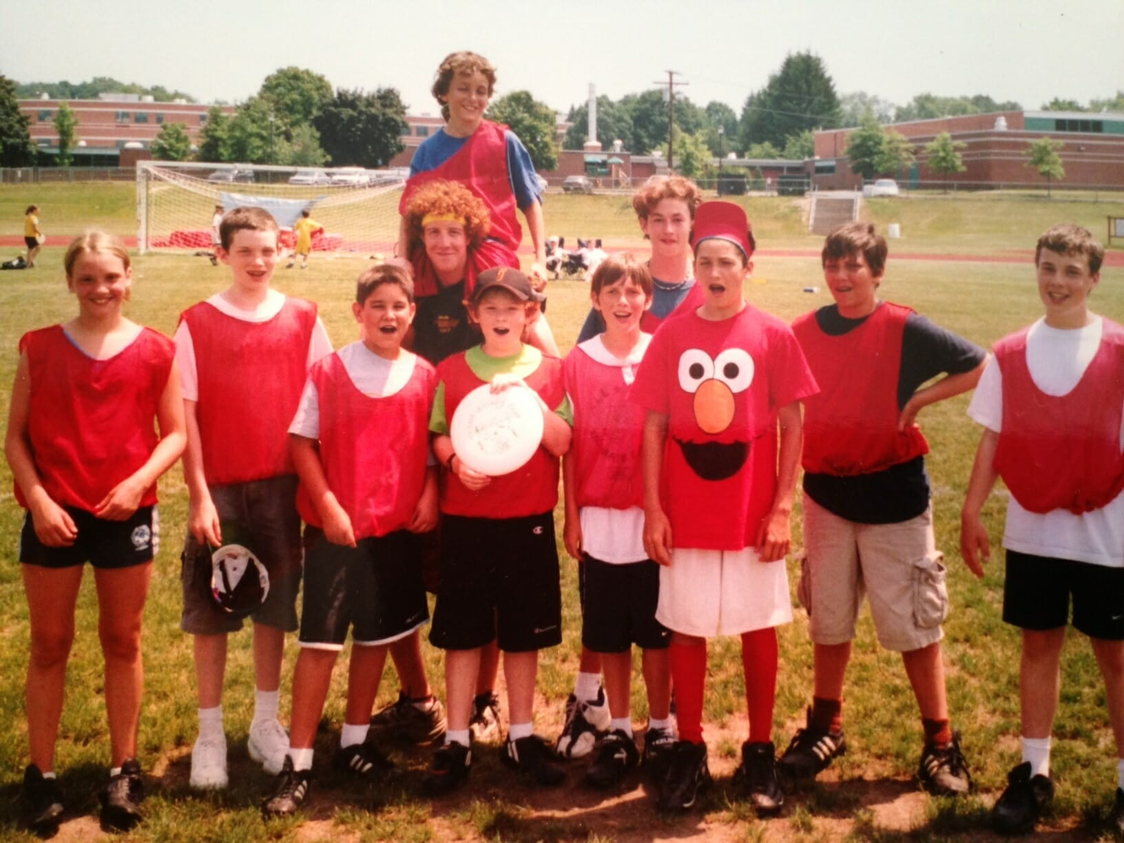Campers at the National Ultimate Training Camp. (That's Ironside's Russell Wallack in the Elmo t-shirt.)