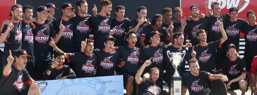 The Toronto Rush won the 2013 AUDL Championship and $15,000 player prize. Photo: AUDL.