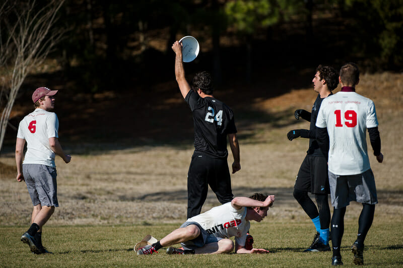UNC's Jon Nethercutt pulls down the Callahan in the finals of the 2014 Queen City Tune Up.