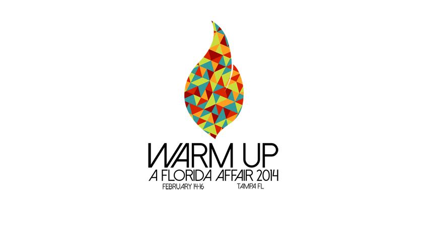 Warm Up: A Florida Affair 2014 logo.