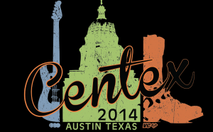 The logo for the ultimate frisbee tournament Centex 2014.