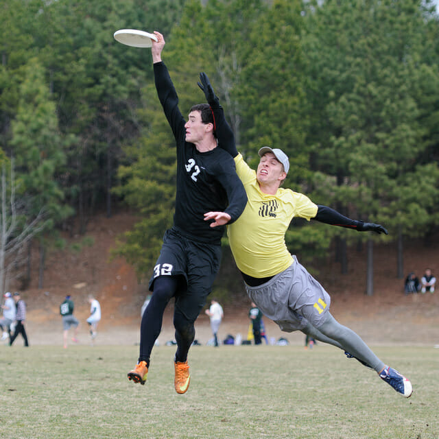 UNC's Christian Johnson makes the catch at the 2014 Queen City Tune Up.