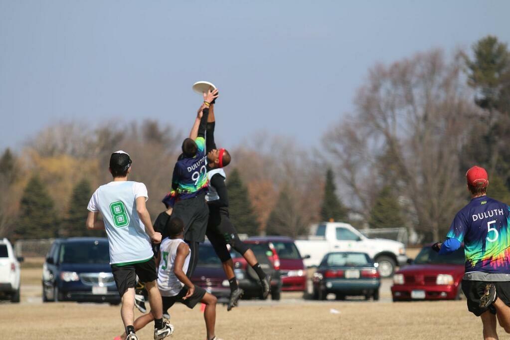 Eastern Michigan's James Highsmith with the huge sky grab.