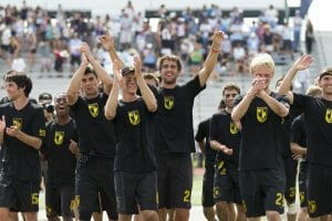 Colorado celebrates after winning the 2014 College Championships