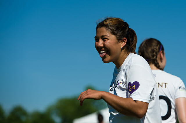 Washington celebrates a win at the 2014 College Championships