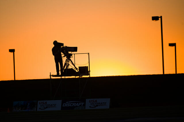 An ESPN cameraman at the 2013 Club Championships.
