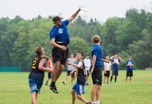 Jimmy Mickle skies a crowd at NUTC 2014.