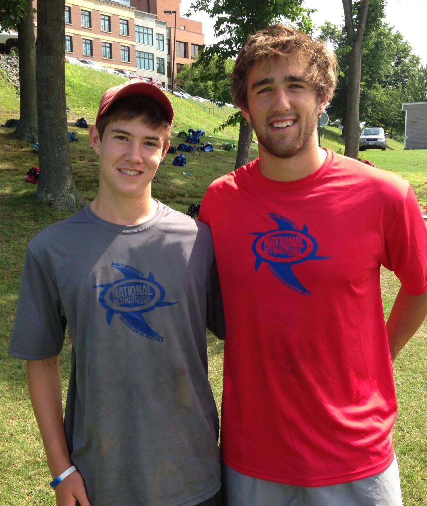 Dillon Lainer (left) and Jimmy Mickle at NUTC.