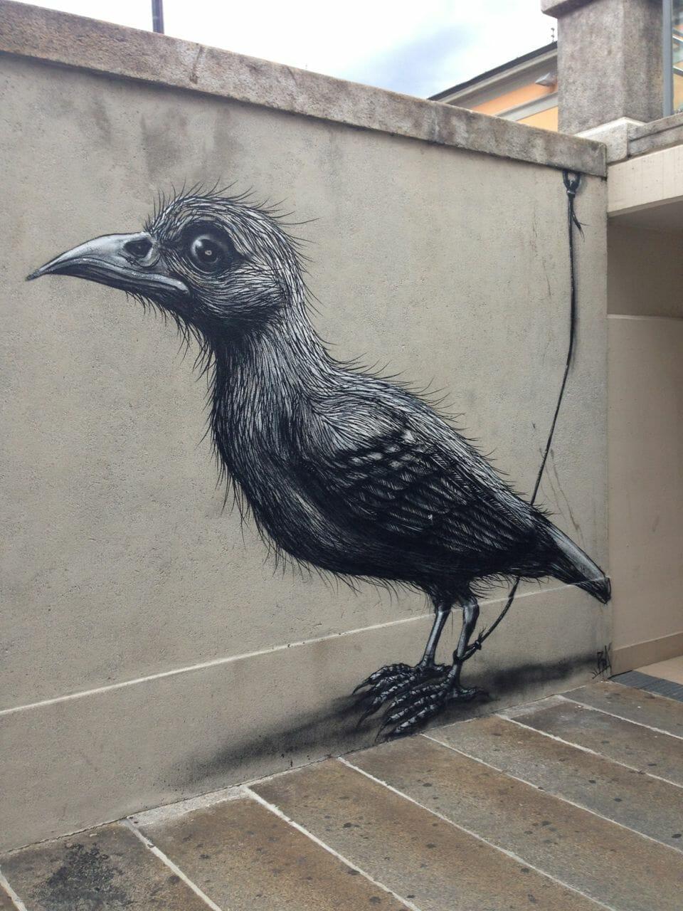Graffiti in the Lecco train station.