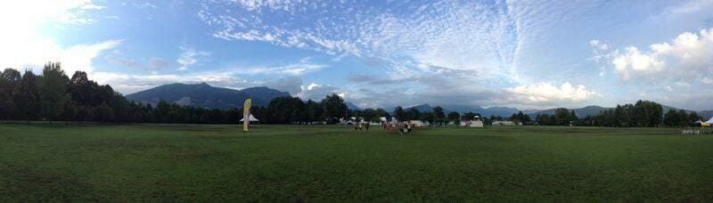 A panorama of the WUCC fields.