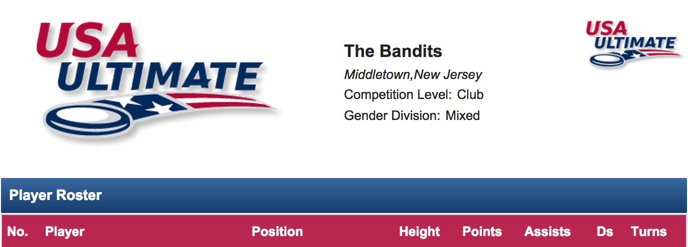 The Bandits on USA Ultimate.