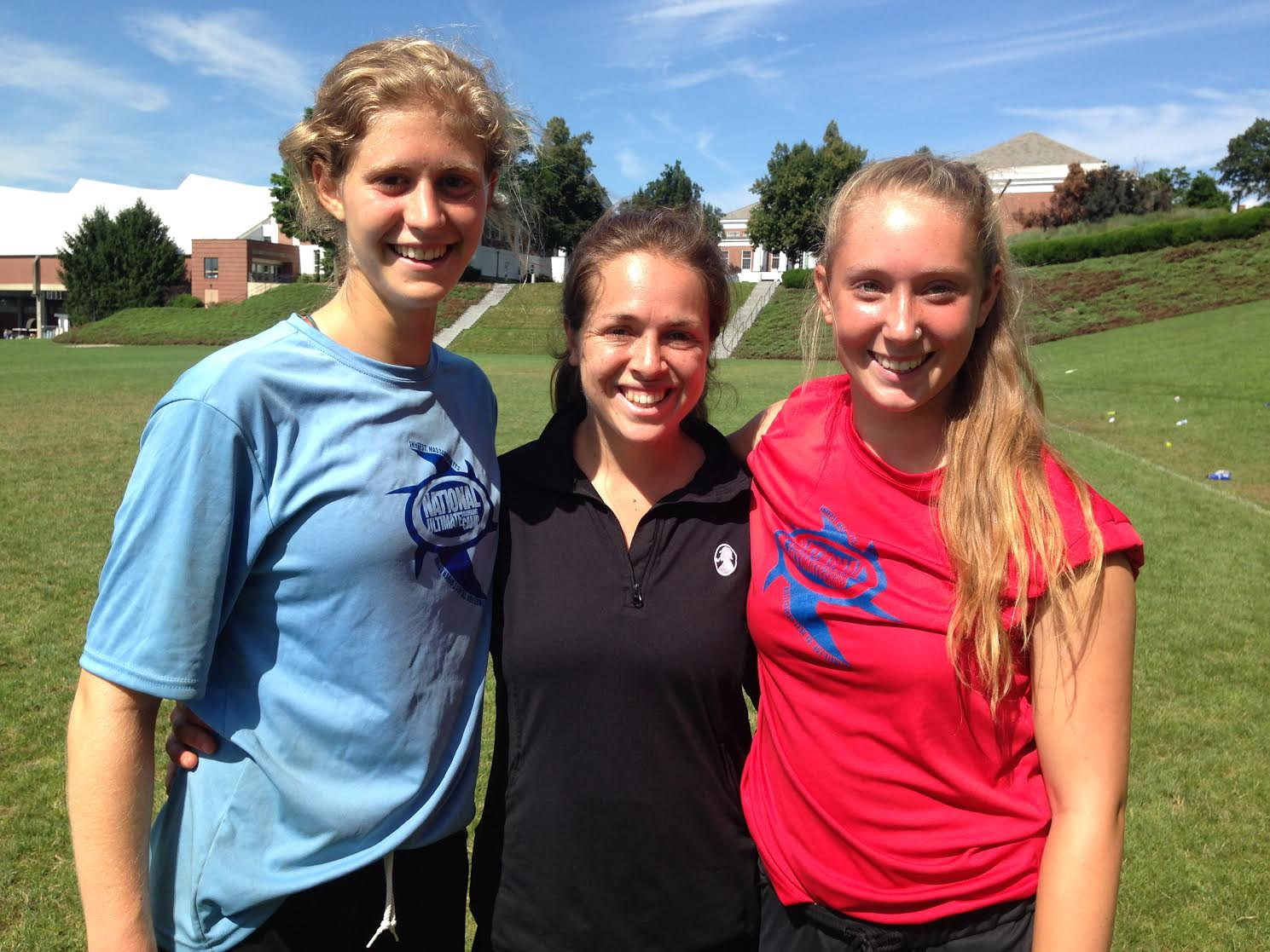 Sophia Herscu and two NUTC campers together at NUTC 2014.