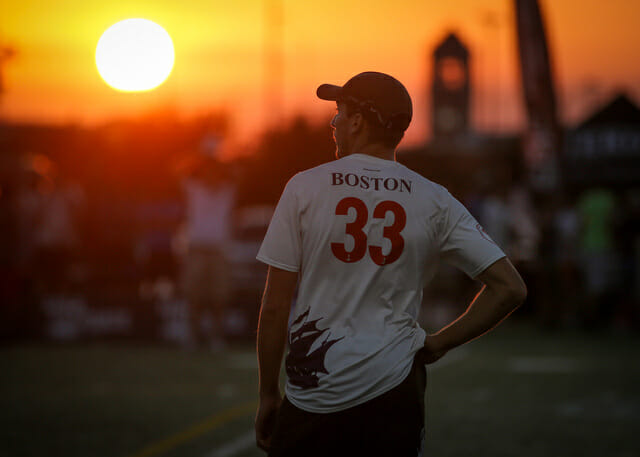 Boston Ironside at sunset at 2014 Nationals