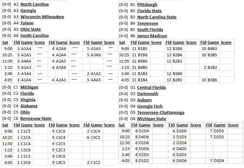 CCC 2014 schedule.