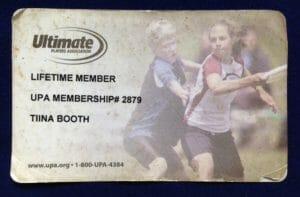 Tiina Booth's UPA ID card