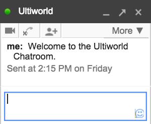 Ultiworld Chatroom