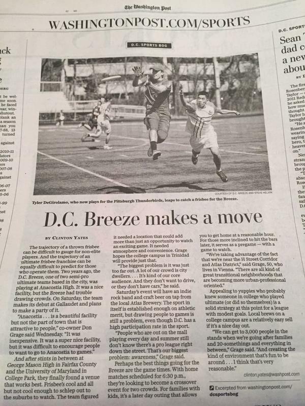 DC Breeze Washington Post