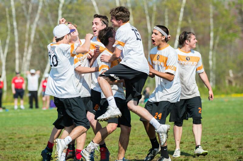 Pennsbury celebrates their 2015 Northeasterns victory.