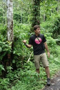 Carlos Chacon leading a rainforest tour.