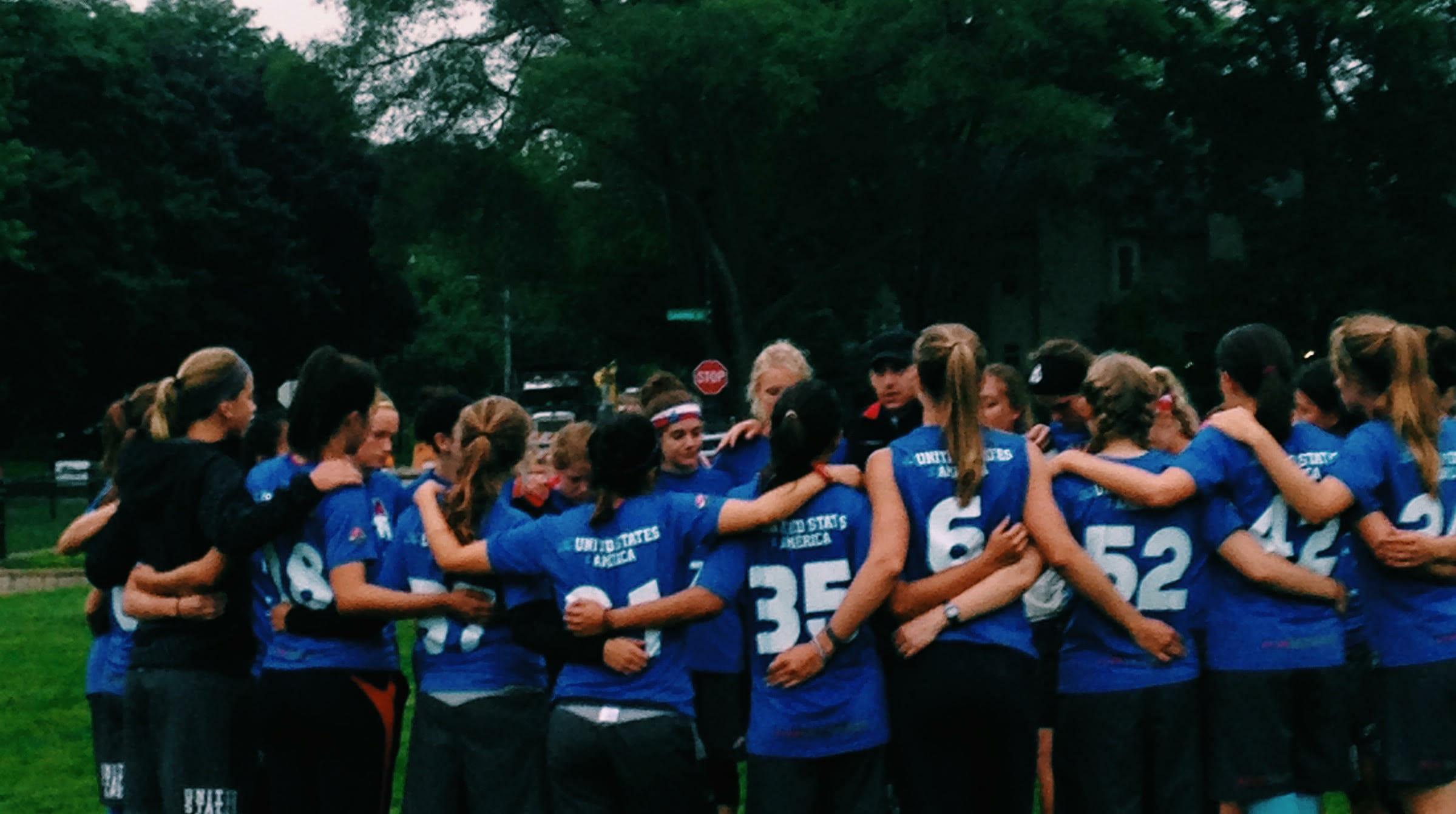 Team USA U23 Women's. Photo: Ultiworld.